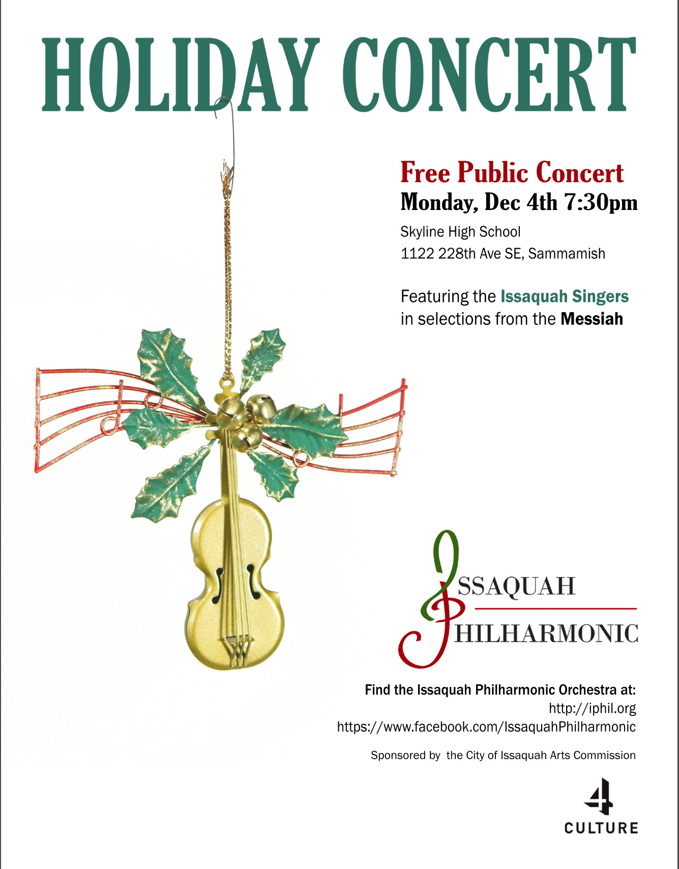2017 Holiday Concert @ Skyline High School | Sammamish | Washington | United States